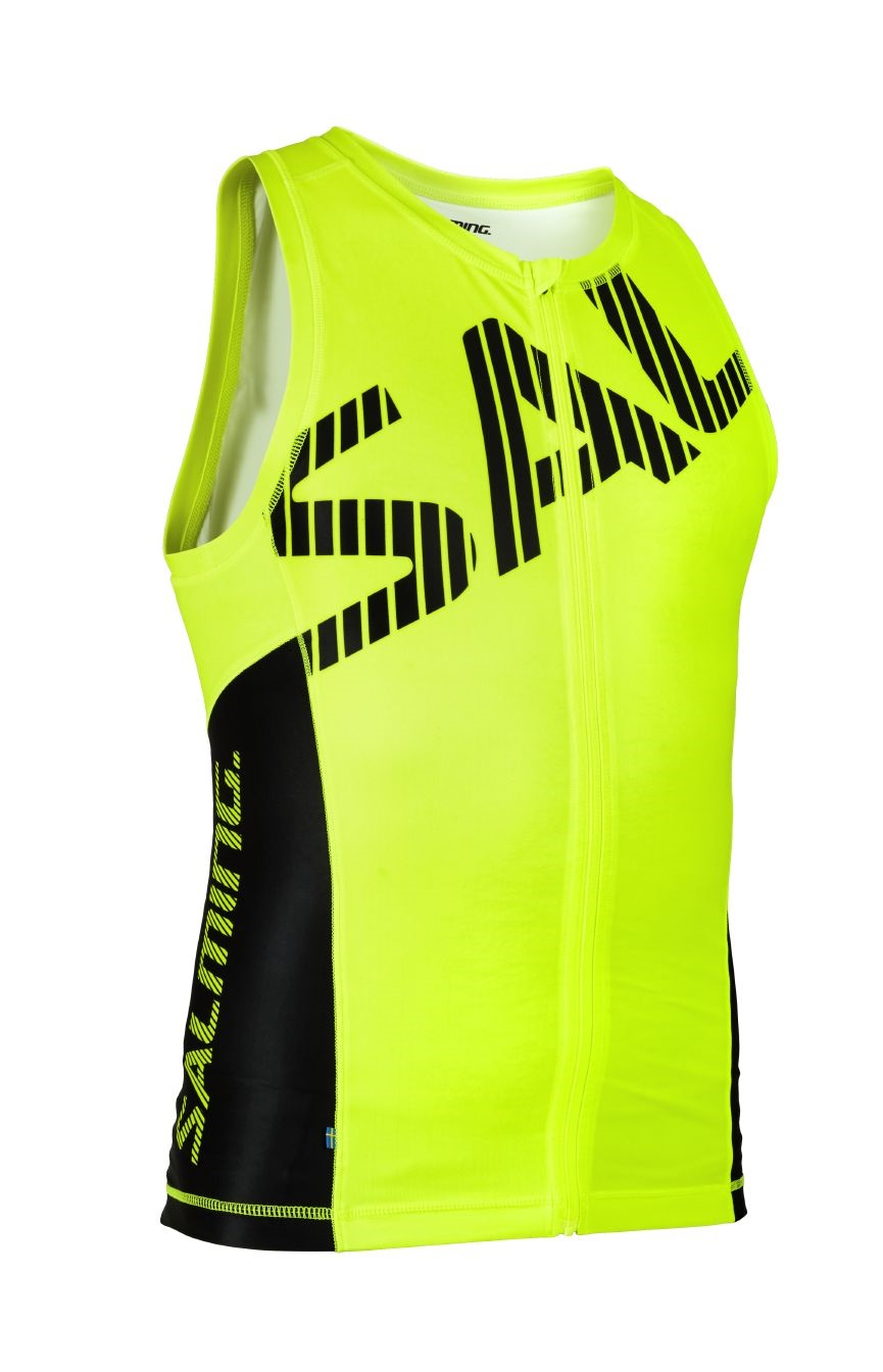 Salming Triathlon Singlet Men Yellow/Black XL