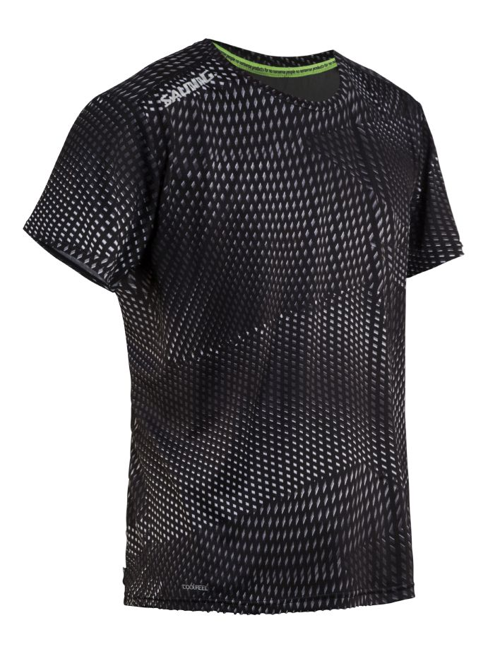 Salming Breeze Tee Men Black AOP/Black Melange XXL