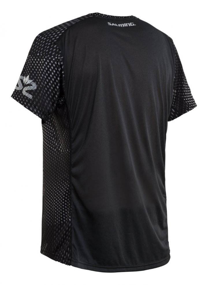 Salming Breeze Tee Men Black AOP/Black Melange L