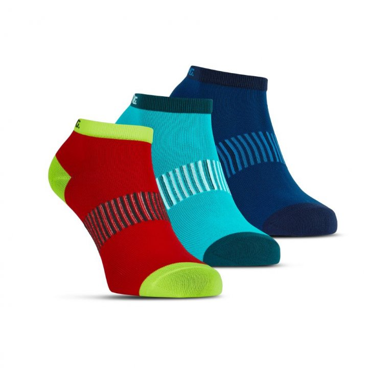 Salming Performance Ankle Sock 3p Blue/Red/Lapis 39-42